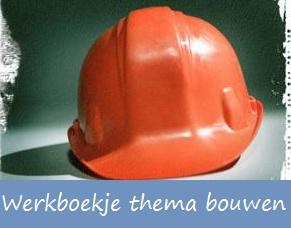 Thema Bouw - een leuk werkboekje, een proefje om een huis te bouwen met suikerklontjes