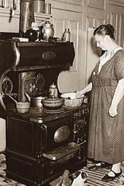 1938 wood stove- this was probably in my home originally!