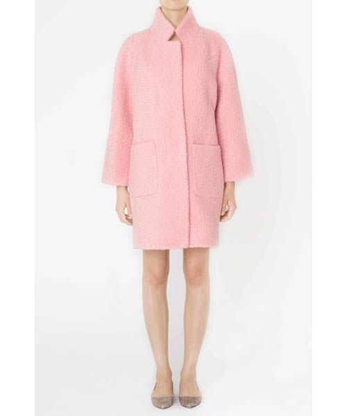 Ganni Pink Wool Coat