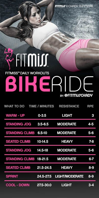 FitMiss Bike Ride Workout