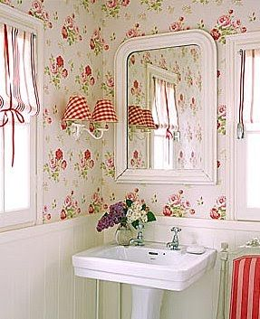 Could seriously do this to my bathroom, that is if there wasn't a window above my sink.