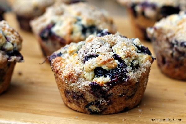 Blueberry Lemon Streusel Muffins #Recipe