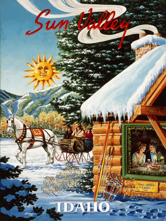 Vintage poster courtesy of Sun Valley Lodge.