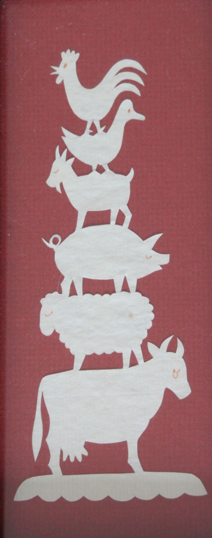 Farm Animals by Sharon Schaich, Lititz, Pennsylvania, Scherenschnitte