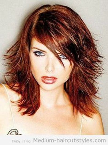 medium length layered hairstyles on pinterest | This Medium Length Long Layered Hairstyles is a hairstyle that is ...