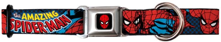Spiderman Seat Belt Buckle Dog Collar ** To view further for this item, visit the image link.