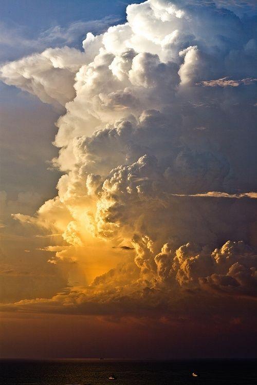 We call them thunderheads in Kansas  これ、ラピュタいるわ。
