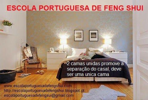 Escola Portuguesa de Feng Shui: CAMA NO QUARTO DE CASAL