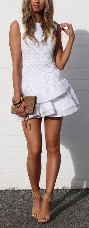 #summer #fblogger #outfits | Pretty White Dress