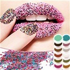 12-Color Perlitic Particle Nail Art Nail Beauty Cosmetic for Lady Women