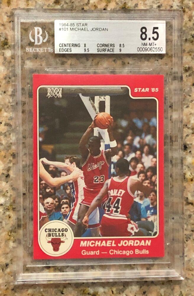 Rookie Card 1984 85 Bgs 85 Star Michael Jordan Rc