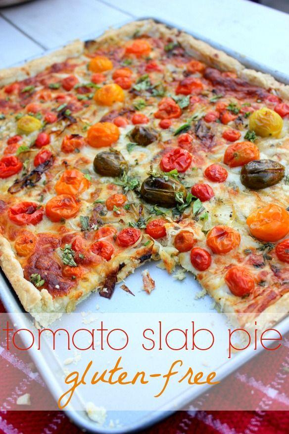 gluten-free tomato slab pie | a girl defloured