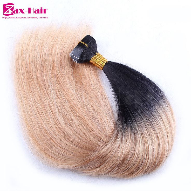 Tape hair extensions two tone human hair tape extensions #1B/613 #1B/27 hair adhesive tape 40pcs skin weft 100g stocked grade 6A