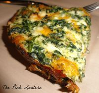 Crustless Spinach Quiche - I made this and loved it! I added another egg, shredded zucchini, chopped tomato, mushrooms and some feta. It could easily be doubled for either dinner or breakfast.