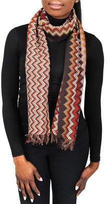 Missoni Sc31psd5928 0003 Multicolor Wool Blend Womens Scarf.