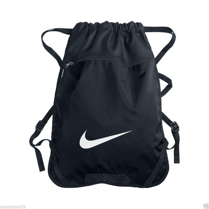nike black sack back pack backpack book bag travel