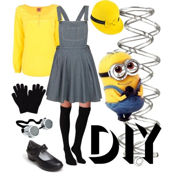 """""""Rown's DIY Minion Costume"""" by rownstyle on Polyvore"""