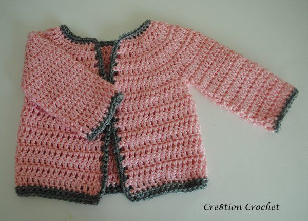 Crochet~ Abigail Baby Girl Cardigan- Free Pattern  by Lorene on July 23, 2013  Delicate Beauty Abigail Baby Girl Cardigan 6-12 months  This is the first sweater I ...