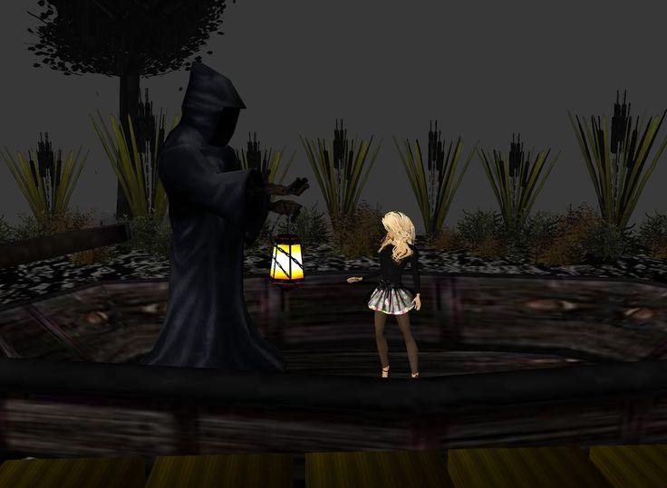 estar en el cementerio es  aterrador y mas cuando te encuentras con la muerte