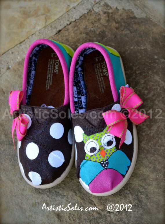 Owl Always Love You Custom TOMS Shoes  Tiny TOMS by ArtisticSoles, $90.00