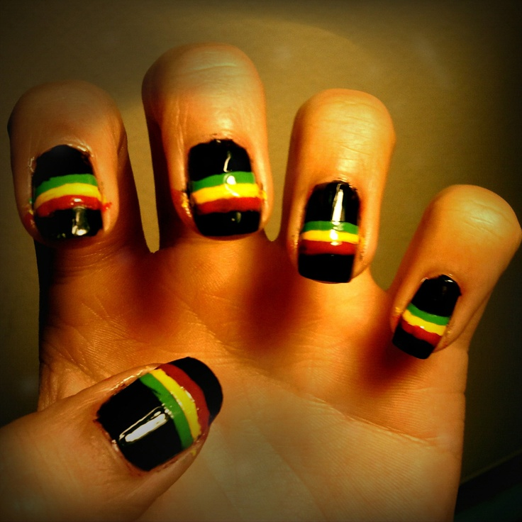 Rasta nails i did :) - 25+ Unique Rasta Nails Ideas On Pinterest Bob Marley Nails, DIY