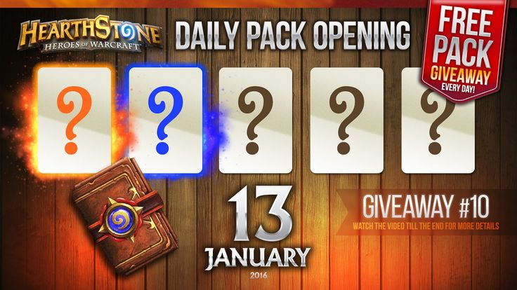 FREE Pack Giveaway #10 / 1 Legendary & 1 Rare Cards! Hearthstone Packs O...