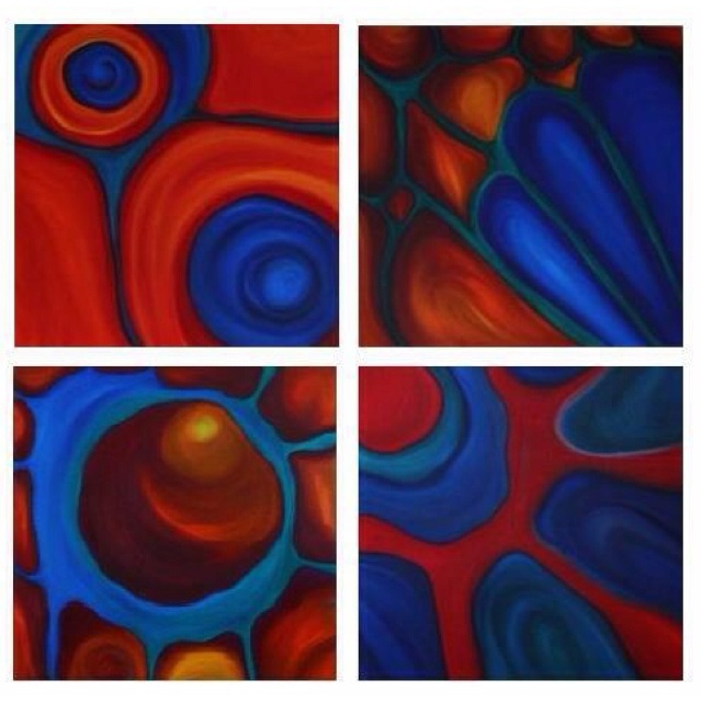 """Metamorphosis"" - Series of 4, Oil on Canvas, 24"" x 24"" each"