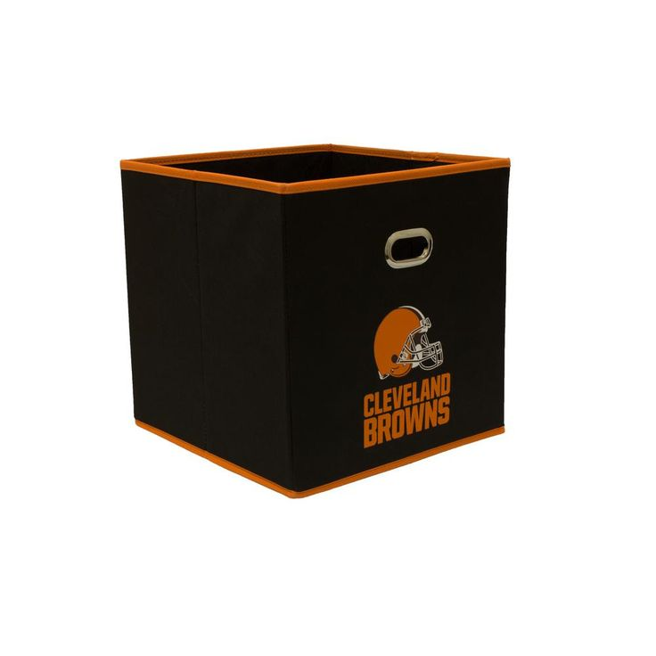 Cleveland Browns NFL Store-Its 10-1/2 in. W x 10-1/2 in. H x 11 in. D Black Fabric Drawer, Cleveland Browns/Black
