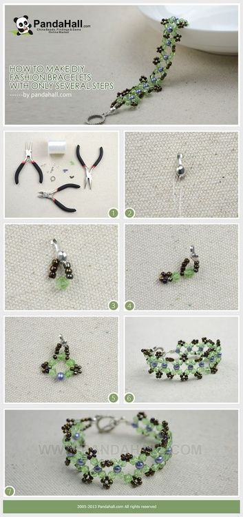 Jewelry Making Tutorial--How to Make Beaded Bracelet within Several Steps   PandaHall Beads Jewelry Blog