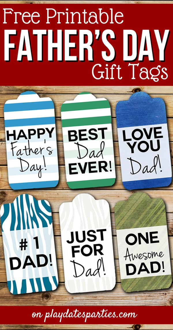 photo about Free Printable Fathers Day Tags identify 6 No cost Fathers Working day Reward Tags Dads are Moving toward Get pleasure from