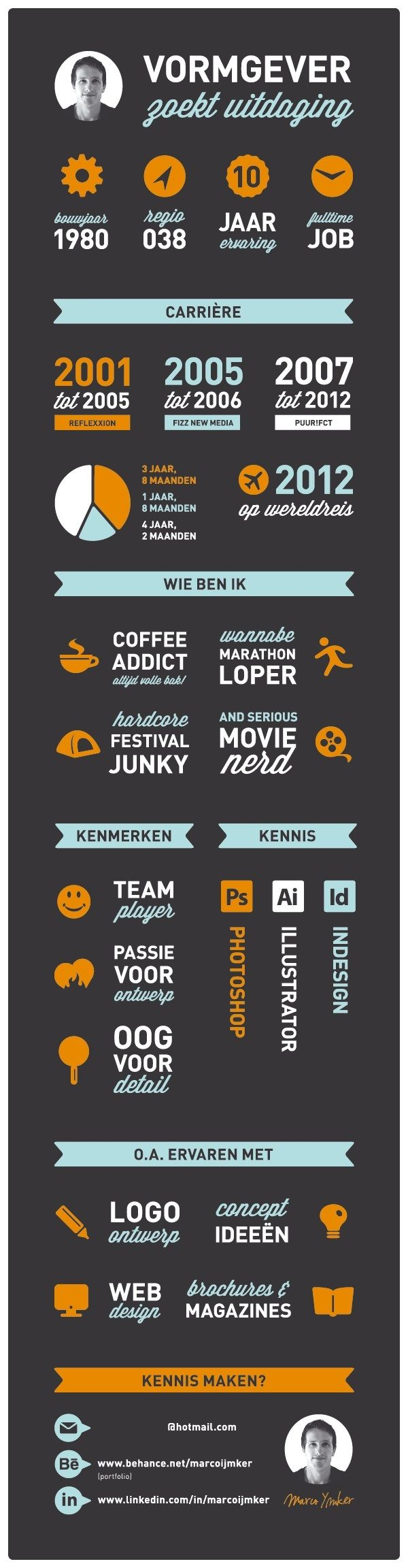 A nice creative resume from Holland. I like that :)