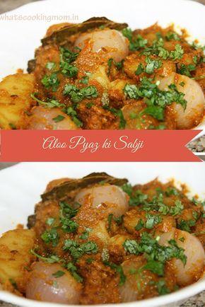 Rajasthani Aloo pyaz ki sabji - delicious potato onion curry