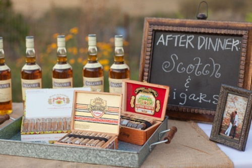 Idea para bodas: cigar corner o cigar bar