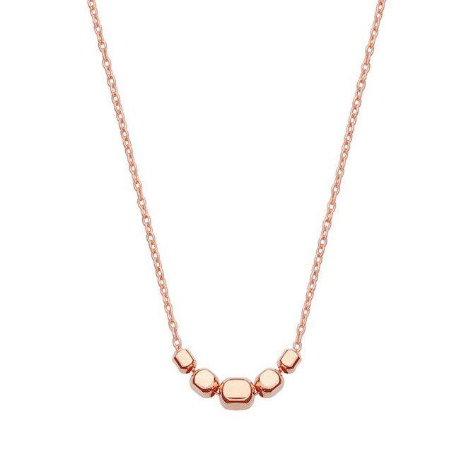 Naszyjnik z różowego złota z kosteczkami