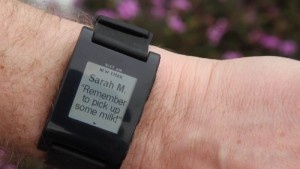 Coolness! Pebble iPhone watch!