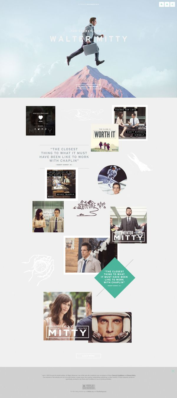 Walter Mitty Tumblr Concept by Shakir Dzheyranov / Detail Vision, via Behance