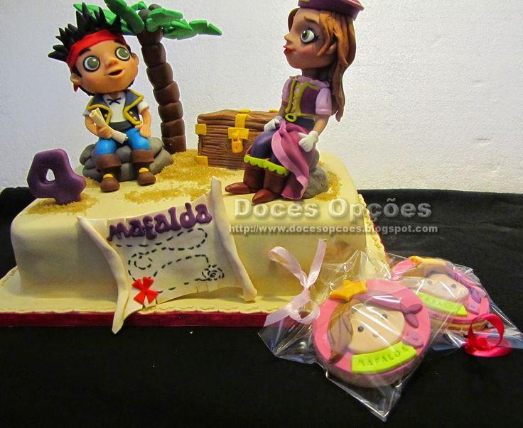 Doces Opções: Bolo de aniversário com o Jake e a Princesa Pirata...