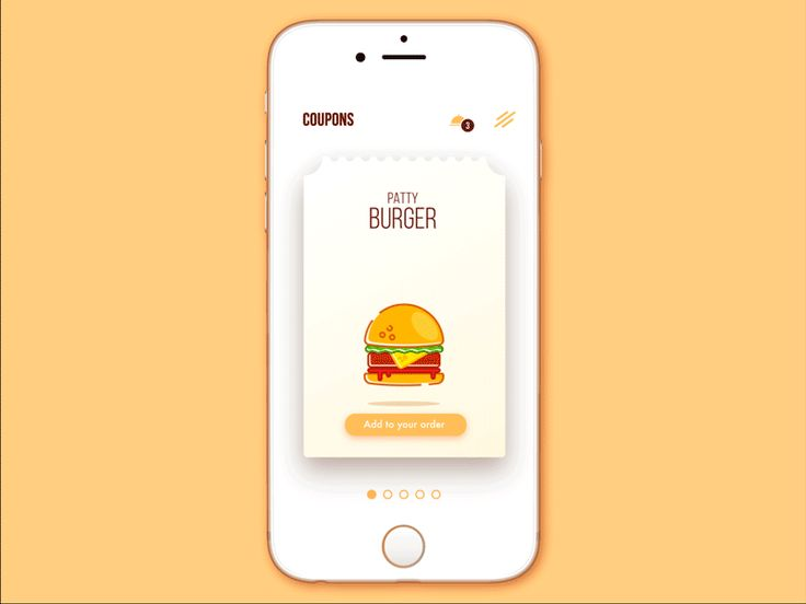Discount saving system concept in food app for a chain of cafes by tubik studio