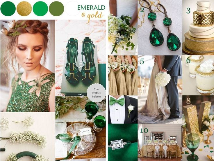 Emerald and Gold Wedding Theme - 10 Best Wedding Themes for Fall…