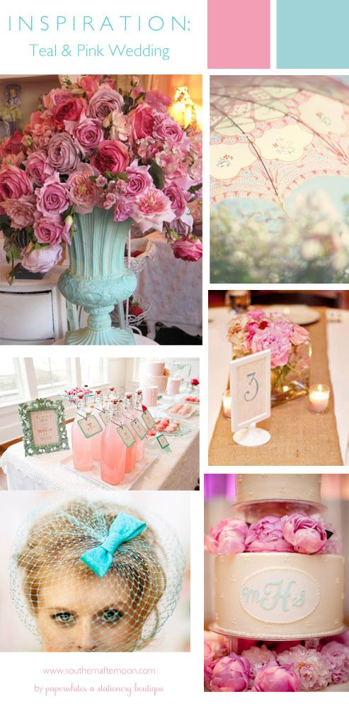Teal & Pink Wedding