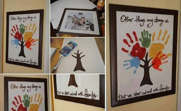 Make A Family Hand Print Tree - Find Fun Art Projects to Do at Home and Arts and Crafts Ideas