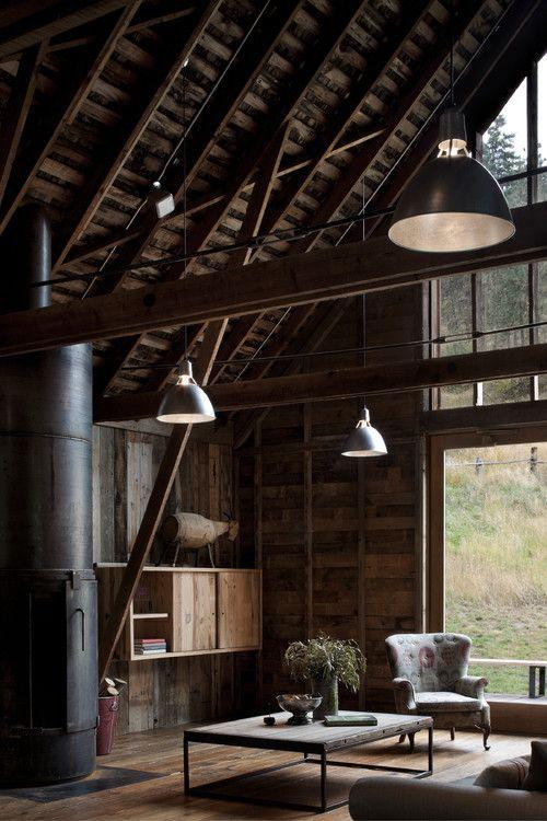 "int0design: "" Canyon barn, WA. MW|Works Architecture+Design, Seattle. http://georgianadesign.tumblr.com/post/99522806473 """