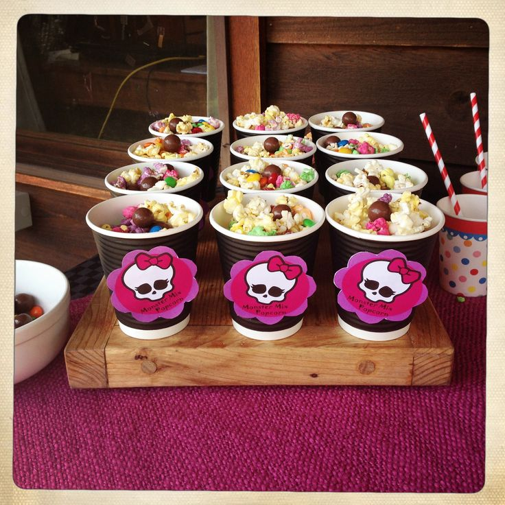 Monster High - popcorn mix, kids party food