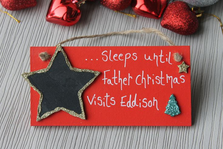 Christmas Countdown, countdown to christmas, christmas sign, Christmas countdown plaque, children's Christmas, Christmas by MadeAt94 on Etsy