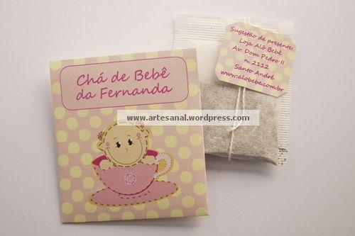 convite para Chá de Bebê - rosa e amarelo