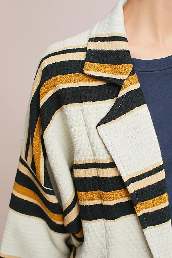 Slide View: 5: Striped Cocoon Jacket