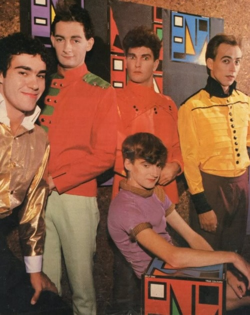 Split Enz - as much as I love their music, I love the fact that baby Neil Finn is wearing short shorts slightly more.