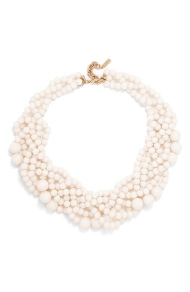BaubleBar Bubblestream Faux Pearl Necklace in Pearl