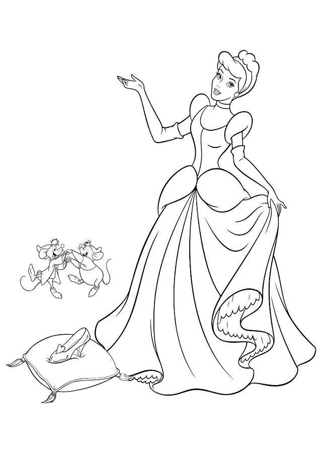 Dibujo Para Colorear La Zapatilla De Cristal Cenicienta Dibujo Colorear Princesas Libro De Colores