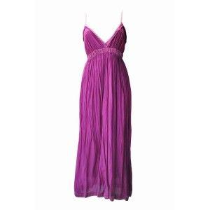 Silk Maxi Dress Cerise